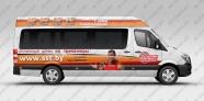 Реклама на маршрутках для cалона спортивных тренажеров sst.by