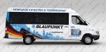 Реклама на маршрутках для Blaupunkt